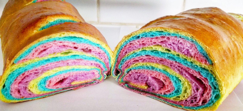 Rainbow French Bread
