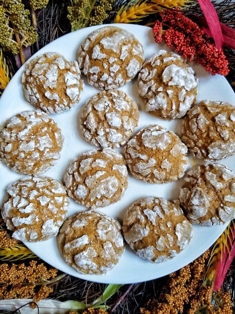 pumpkin crinkle cookies
