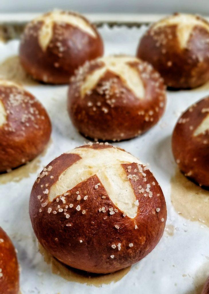 the best homemade pretzel buns