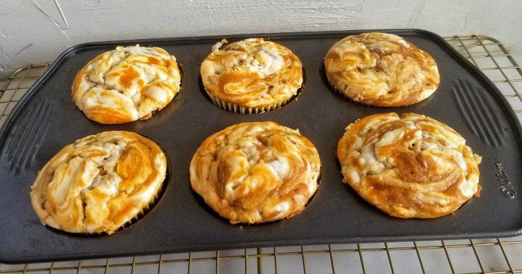 Pumpkin Cream Cheese Swirl Muffins