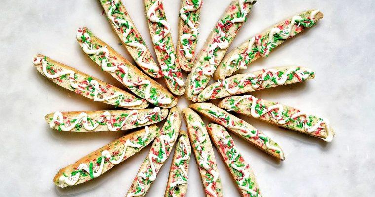 Christmas Sprinkle Vanilla Biscotti