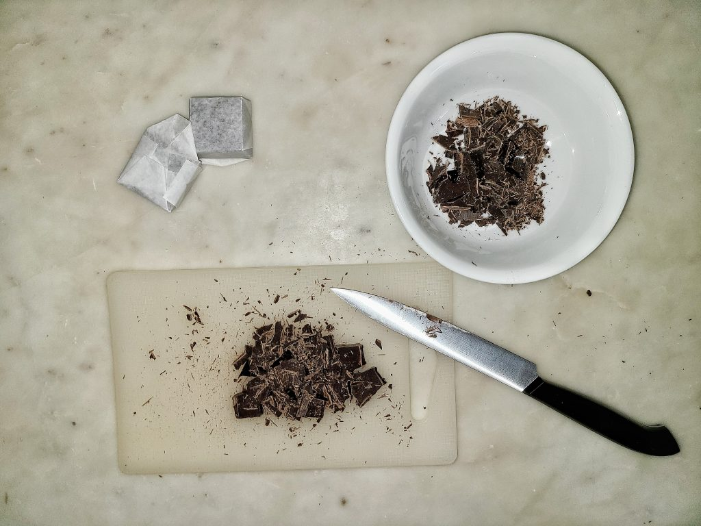 chopped bakers chocolate