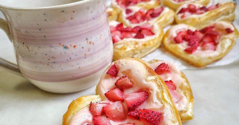 Strawberry Cream Cheese Heart Danishes