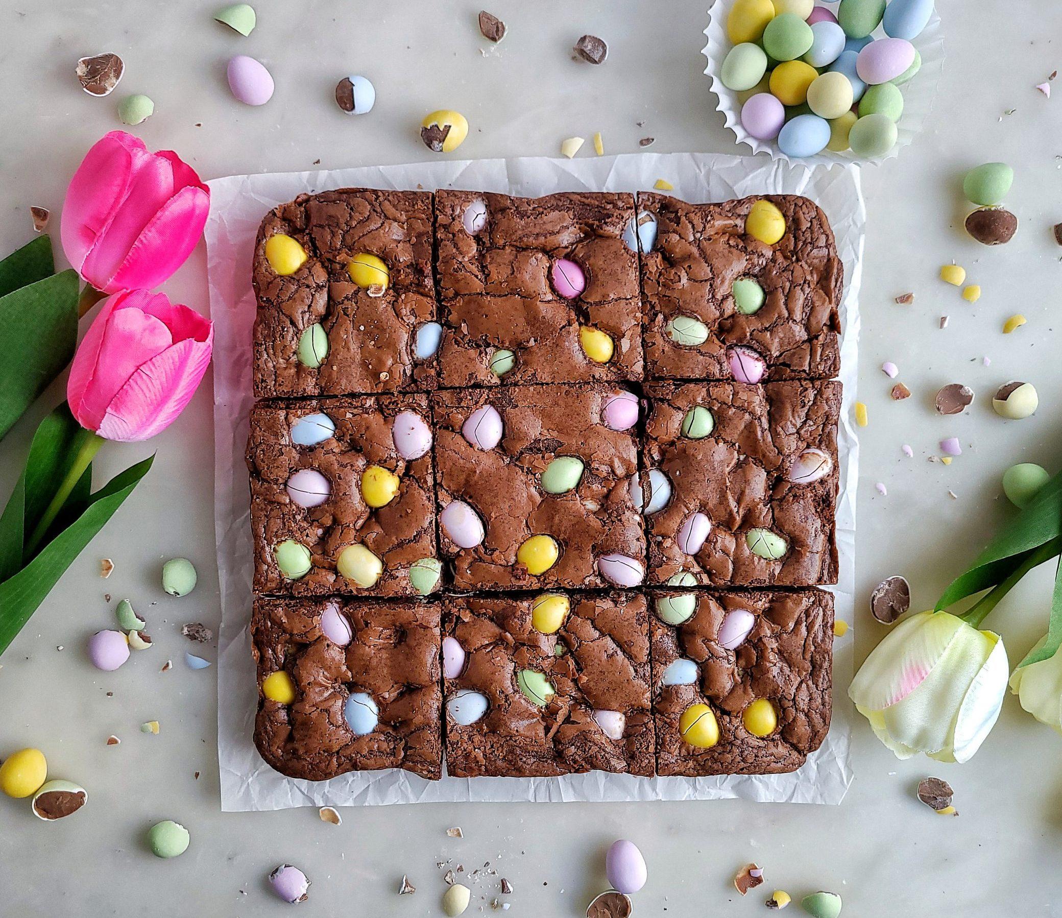 Easter Mini Egg Brownies