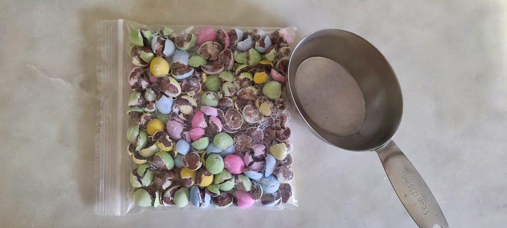 crushed mini chocolate eggs