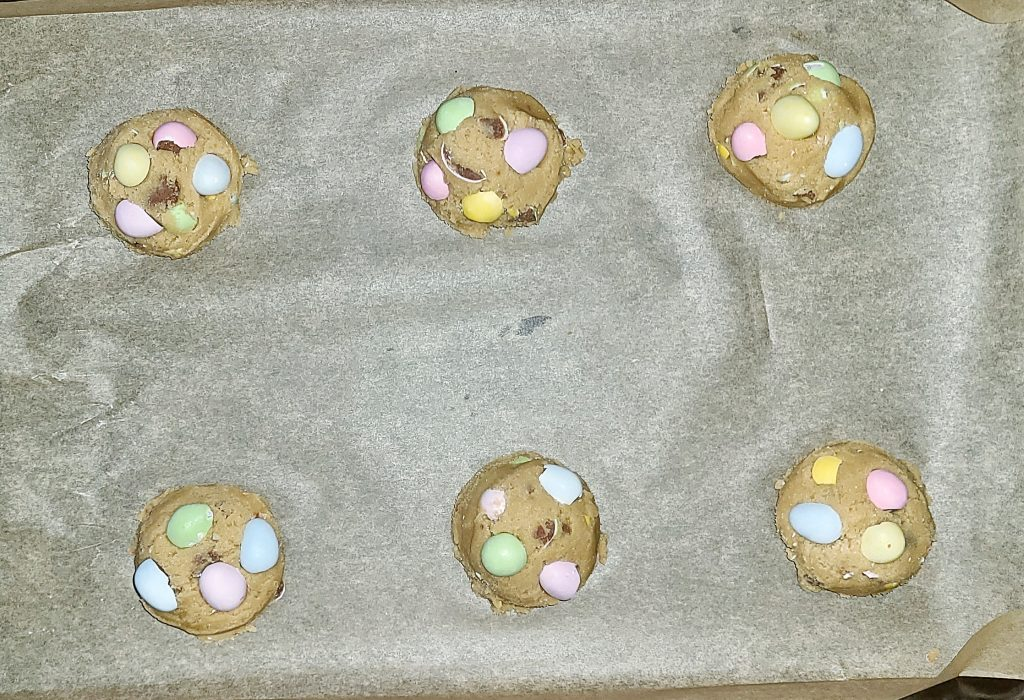 mini egg cookie dough balls