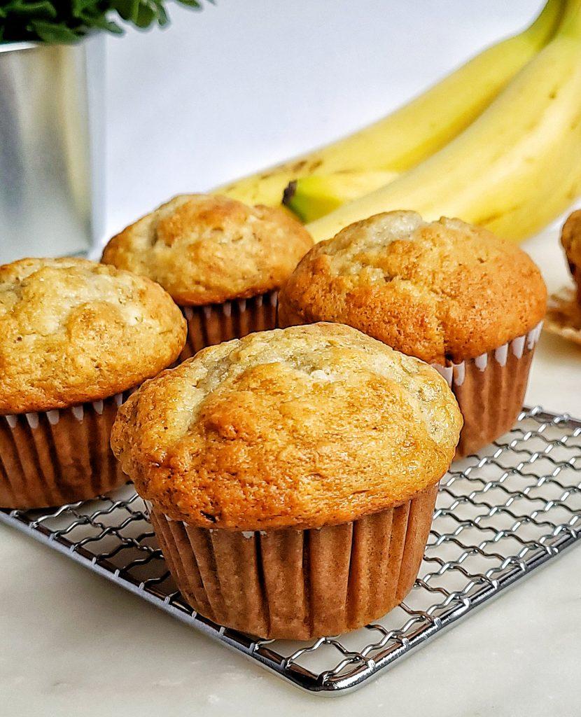 bakery style banana muffin