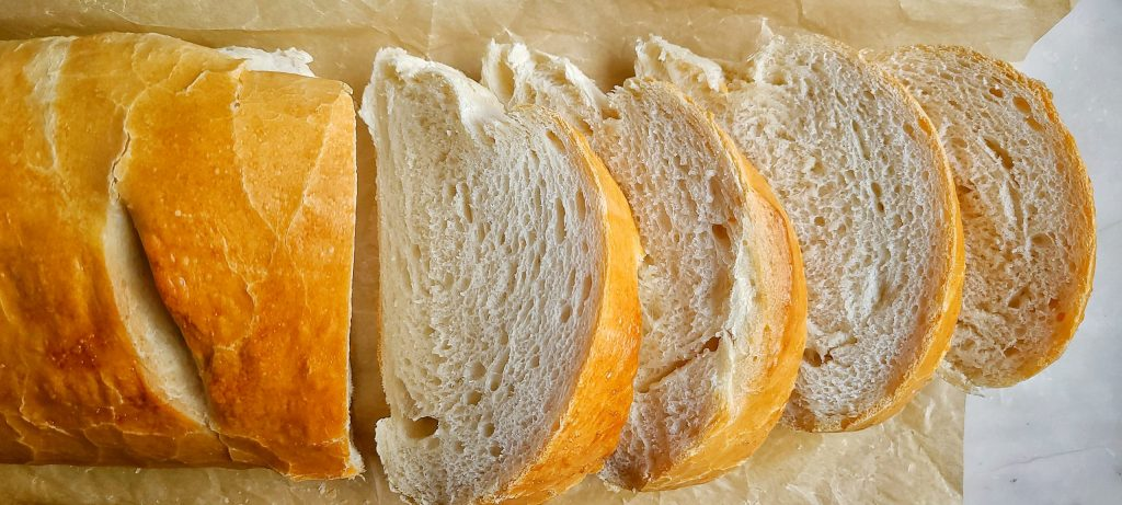 Easy Homemade French Bread sliced