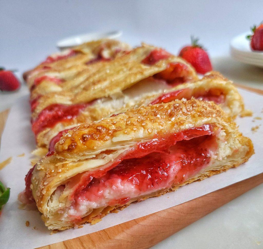 strawberry and cream cheese strudel