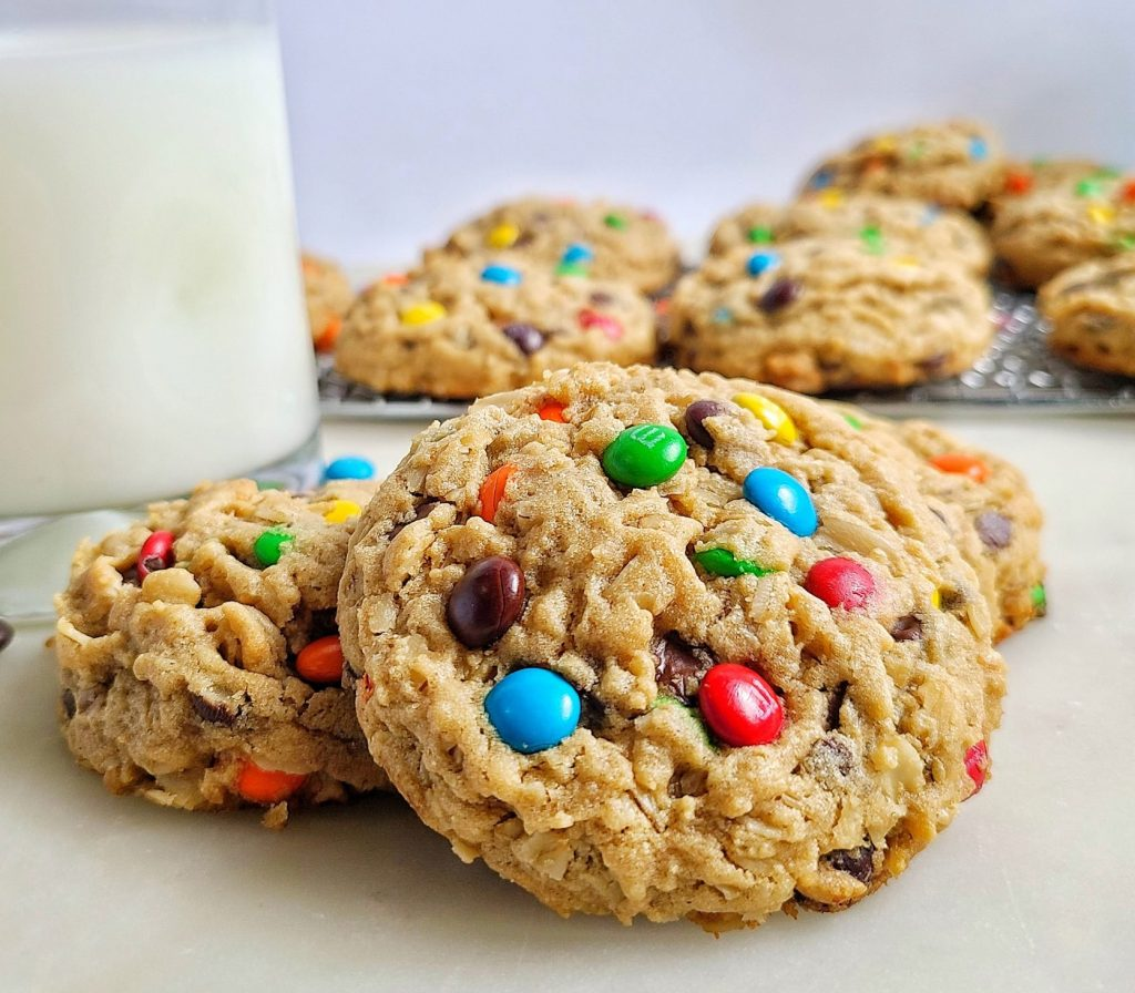 Thick and Chewy Monster cookies