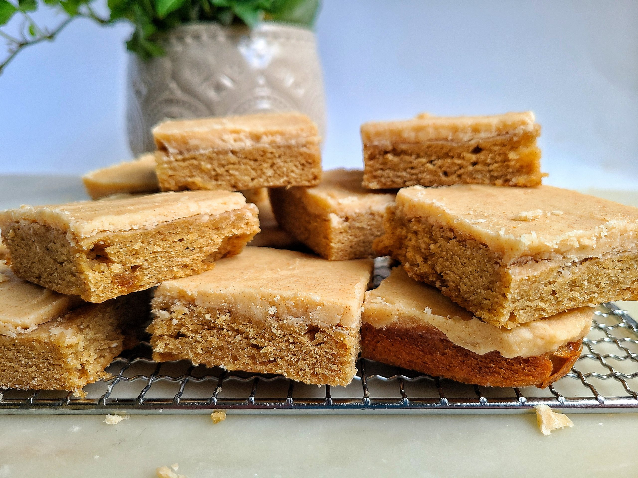 Banana Blondies with Brown Butter Frosting