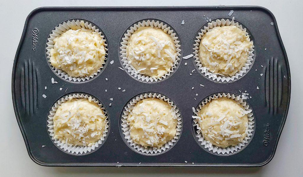 coconut muffin batter