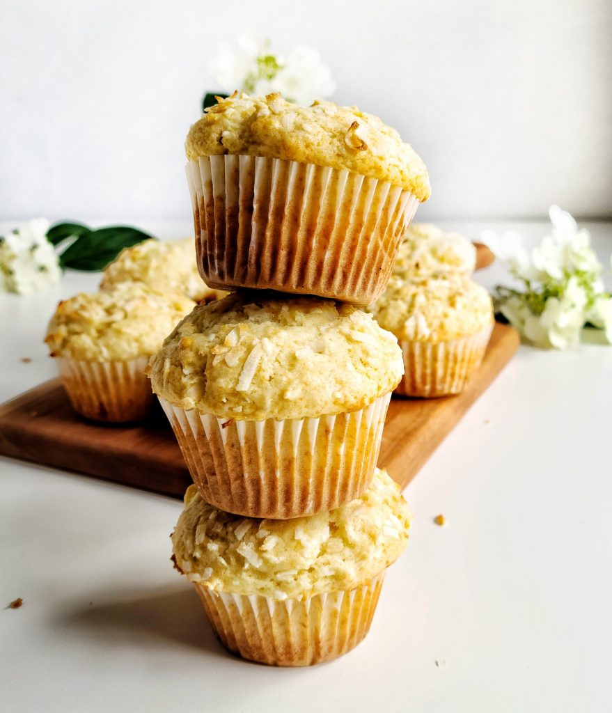 the best bakery style coconut muffins recipe