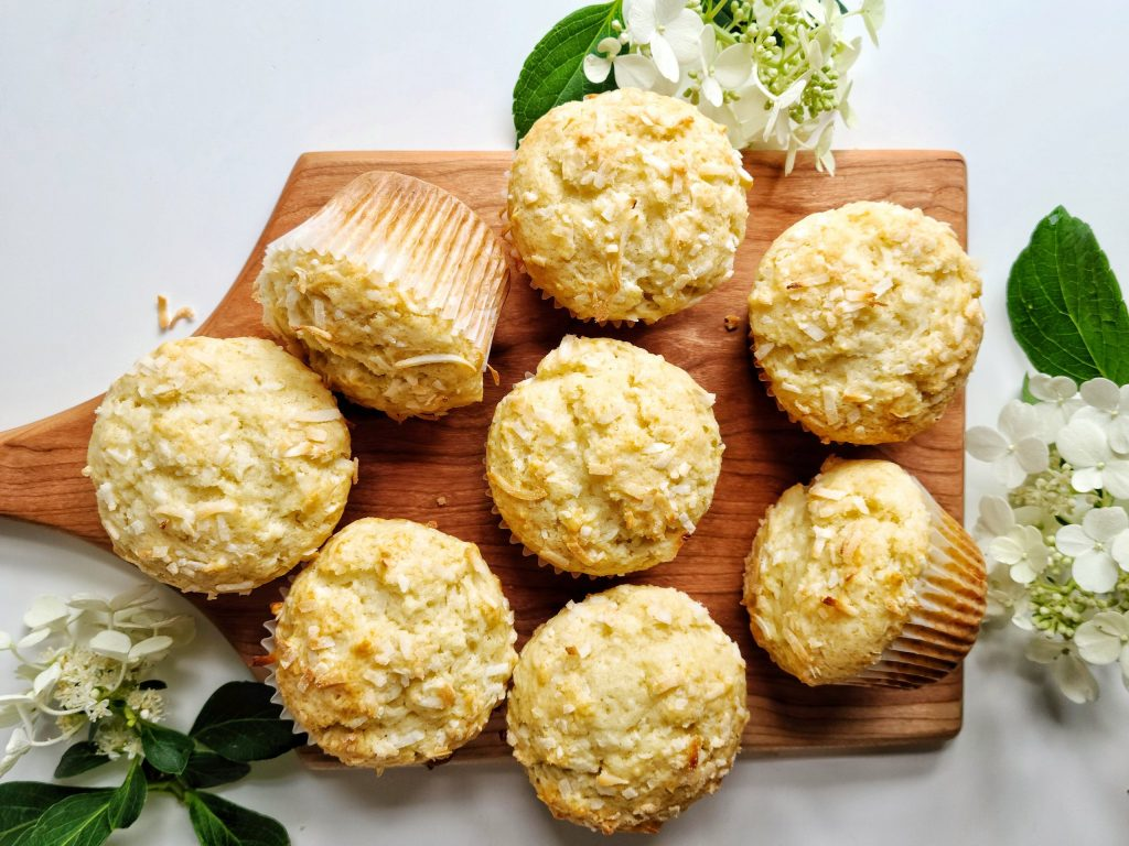 bakery style coconut muffins