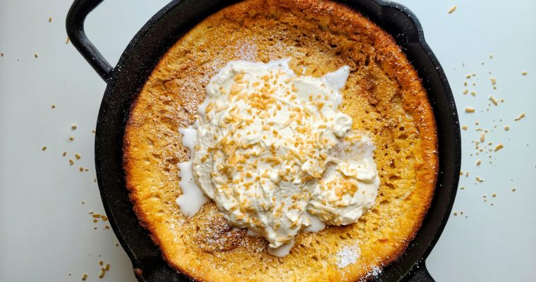 Toasted Coconut Dutch Baby Pancake