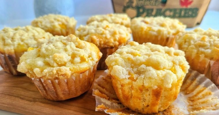 Peach Crumb Muffins