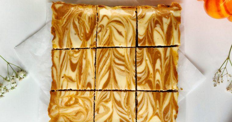 Pumpkin Swirl Cheesecake Bars