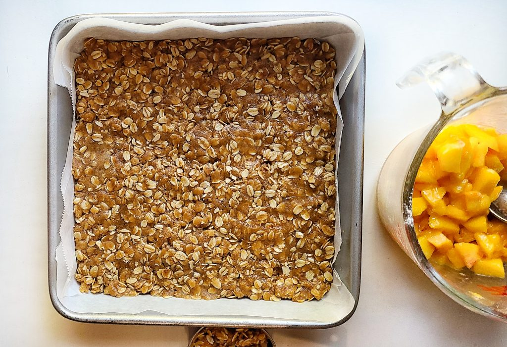 oatmeal crumble base for the bars