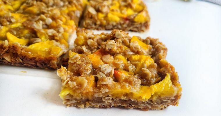 Peach Oatmeal Crumb Bars