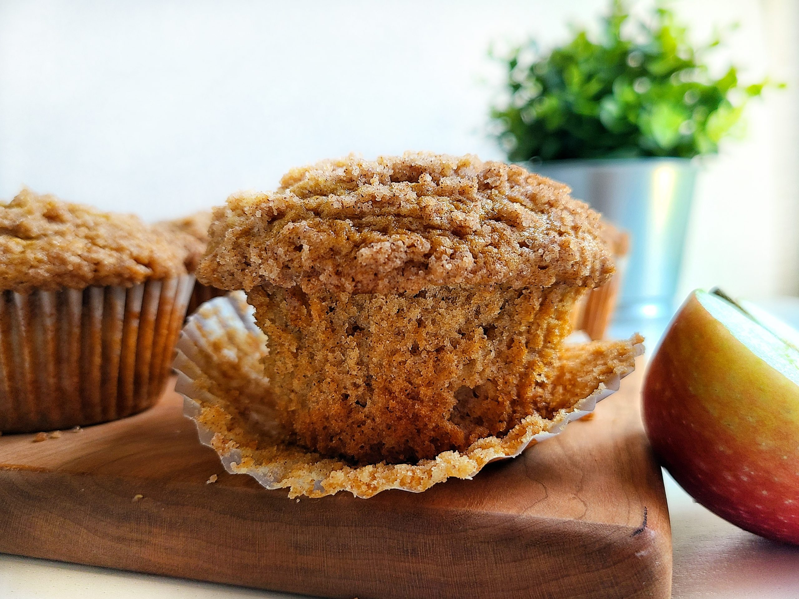 Apple Cinnamon Muffins with Cinnamon Streusel Topping