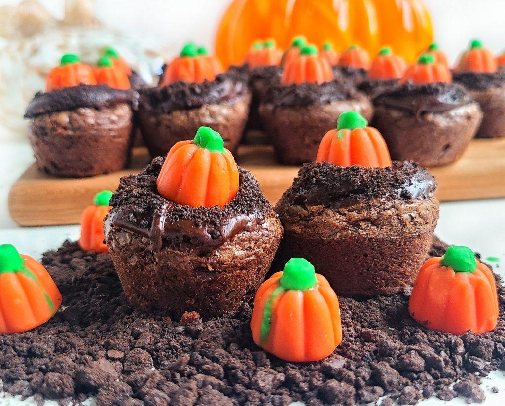 pumpkin patch brownie bites